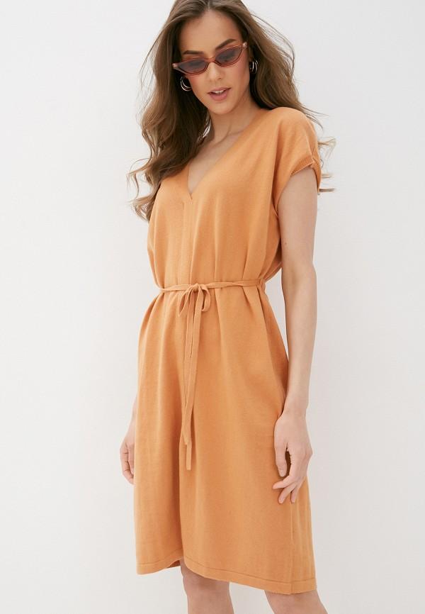 женское повседневные платье rodier, оранжевое