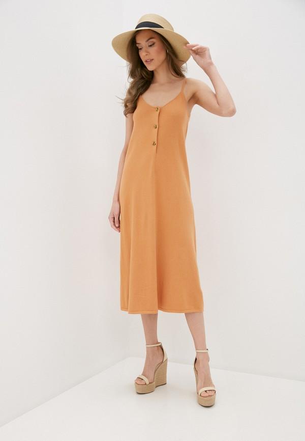 женский сарафан rodier, оранжевый