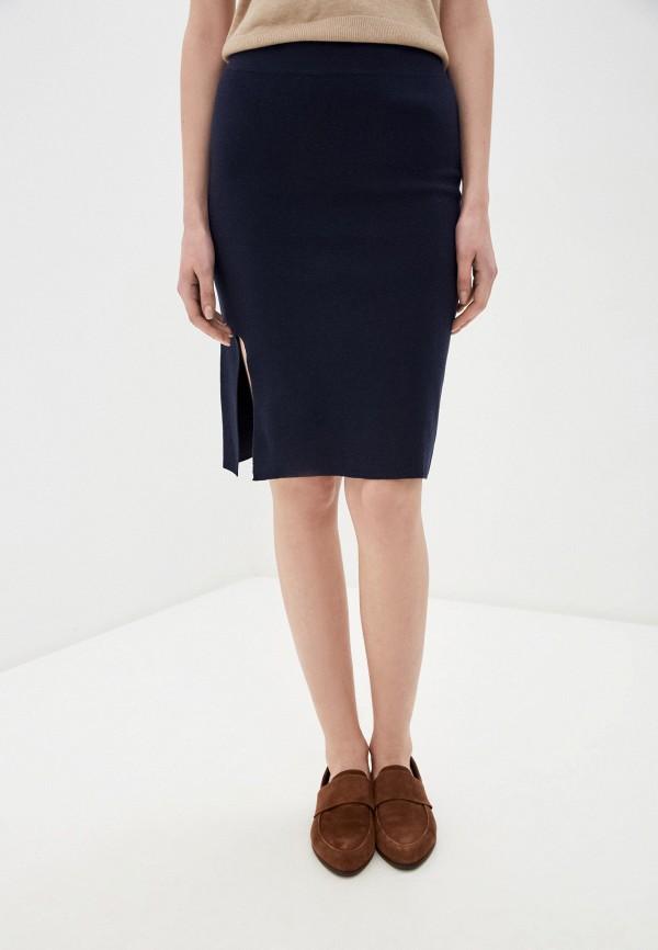 женская зауженные юбка rodier, синяя
