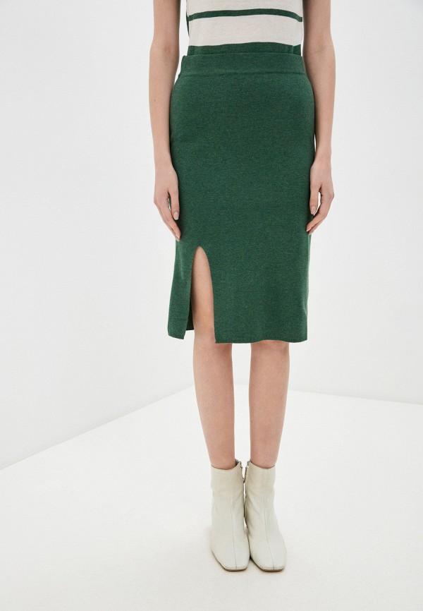 женская зауженные юбка rodier, зеленая