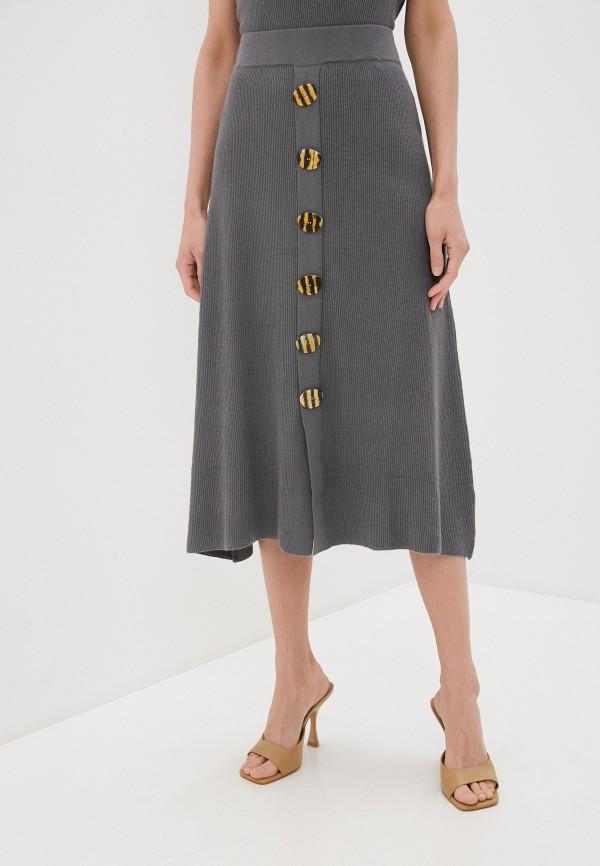 женская юбка rodier, серая
