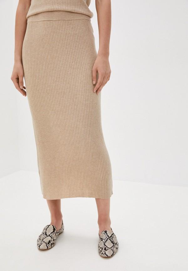 женская прямые юбка rodier, бежевая