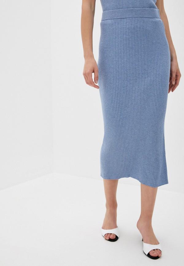 женская прямые юбка rodier, синяя