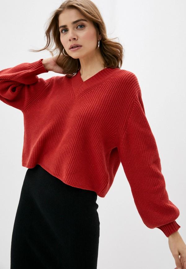 женский пуловер rodier, красный