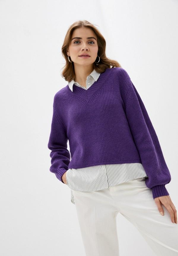 женский пуловер rodier, фиолетовый