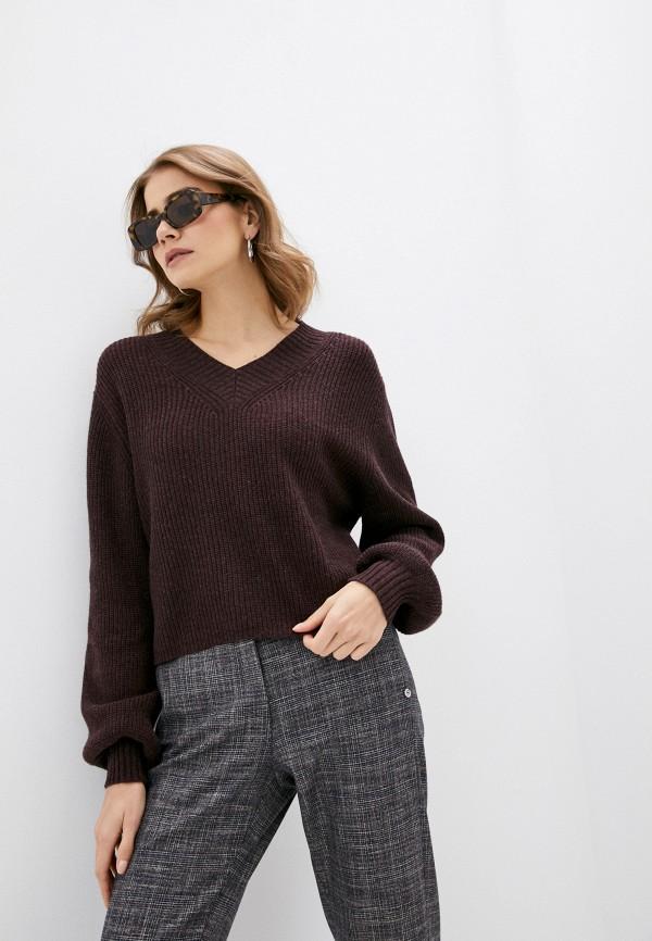 женский пуловер rodier, бордовый
