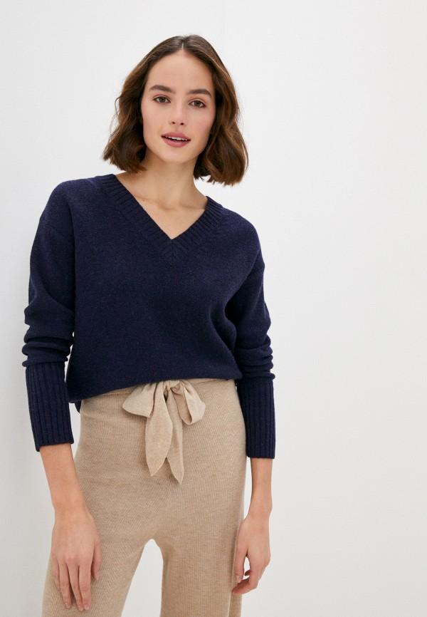 женский пуловер rodier, синий