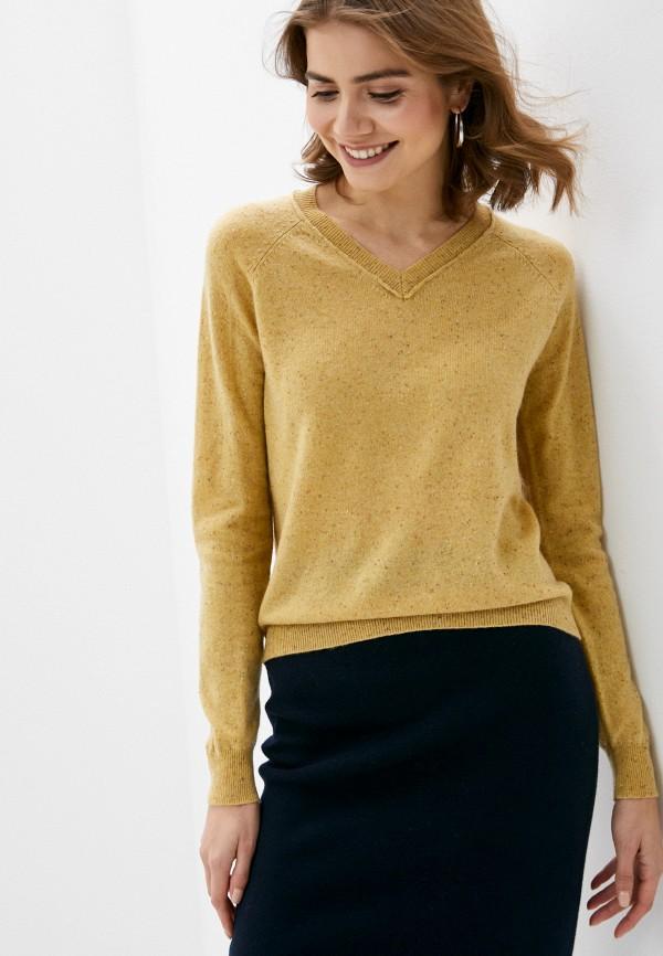 женский пуловер rodier, желтый