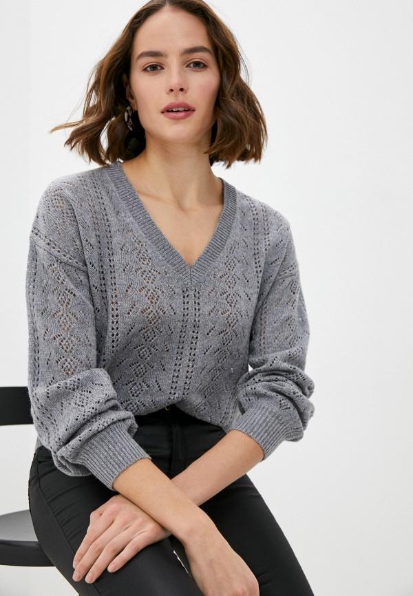 женский пуловер rodier, серый