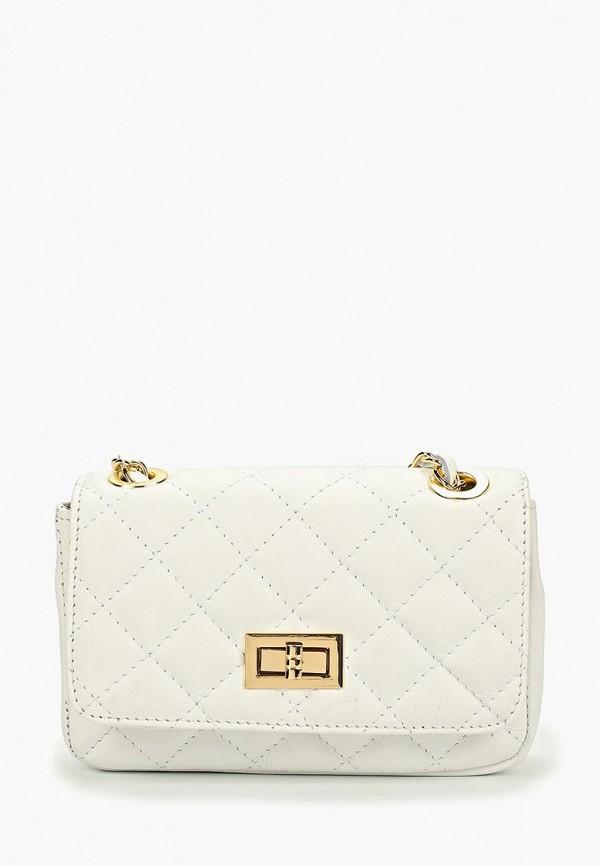 женская сумка через плечо roberta rossi, белая