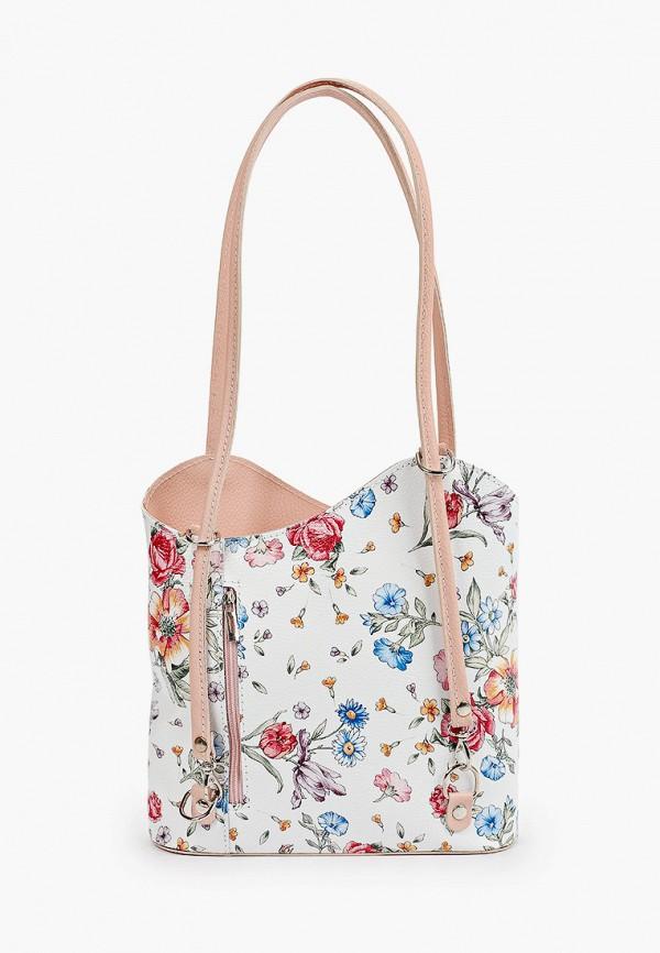 женская сумка с ручками roberta rossi, белая
