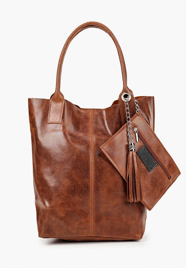женская сумка roberta rossi, коричневая