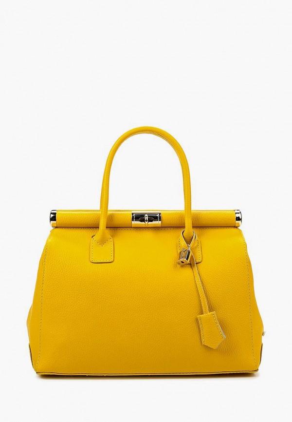 женская сумка roberta rossi, желтая