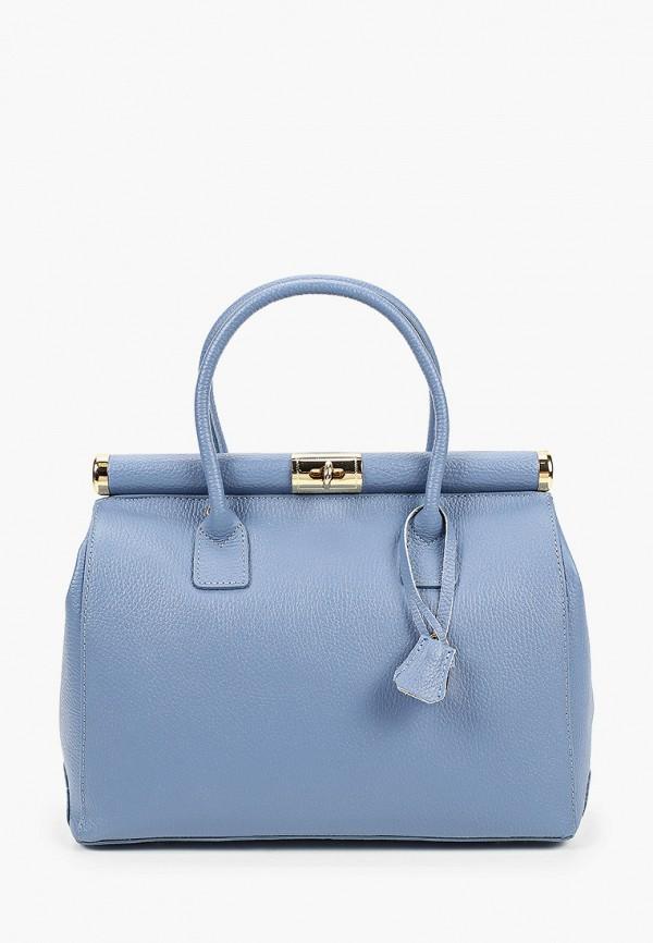 женская сумка roberta rossi, голубая
