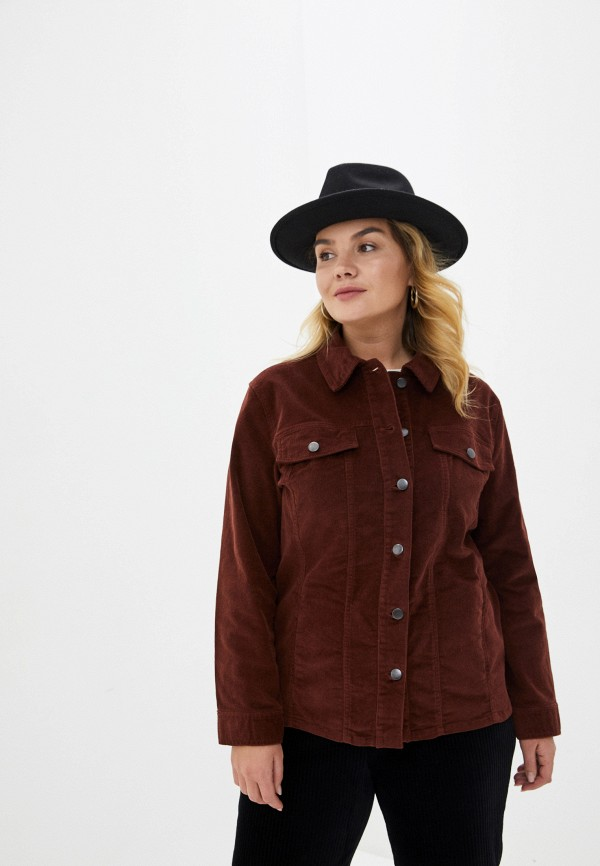 женская куртка rosa thea, коричневая