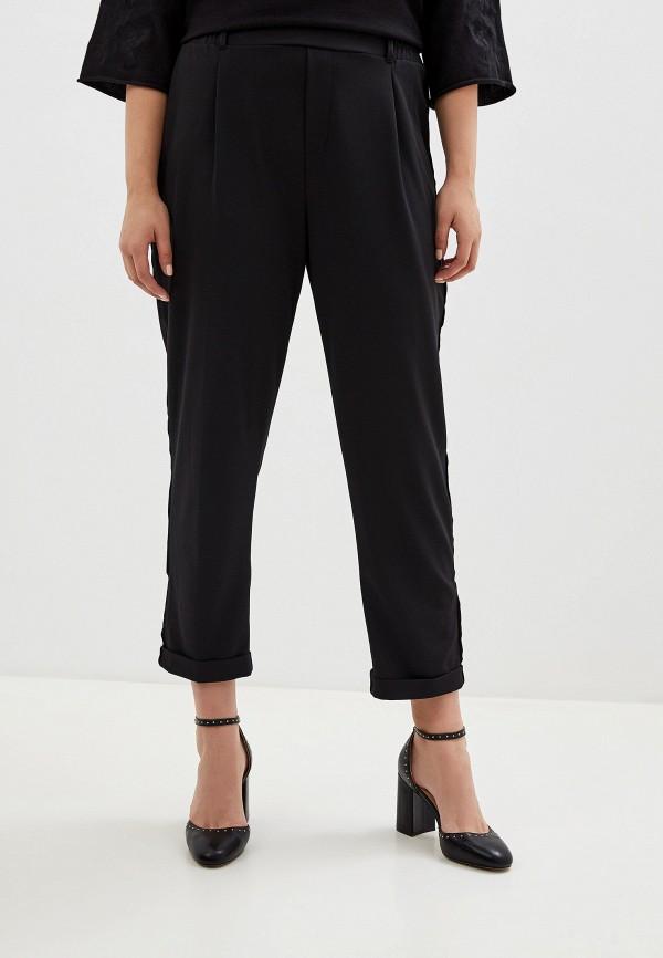 женские зауженные брюки rosa thea, черные