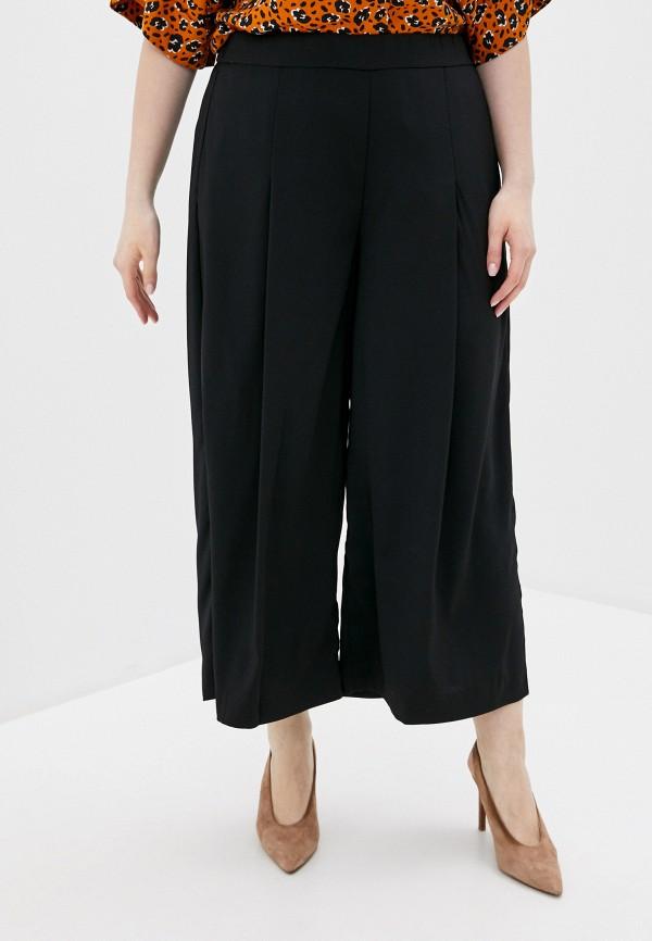 женские брюки клеш rosa thea, черные