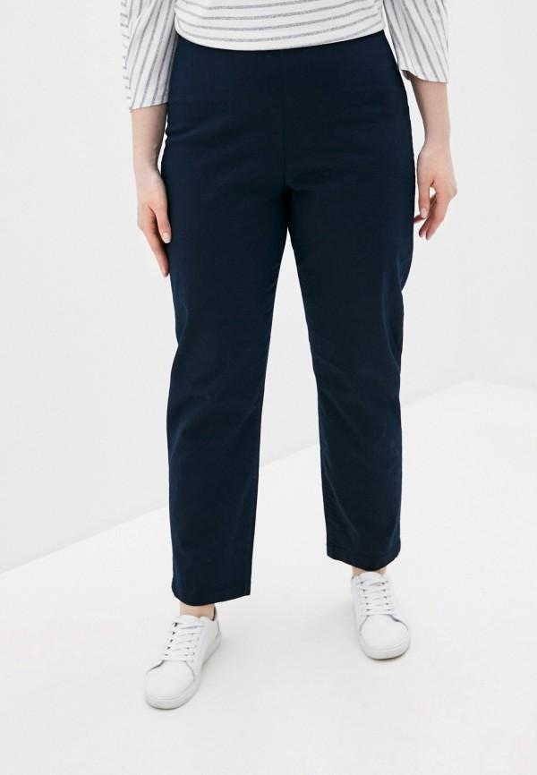женские прямые брюки rosa thea, синие