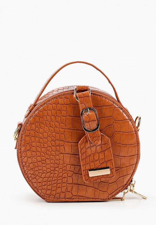 женская сумка rossa, коричневая