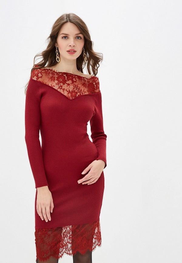 женское повседневные платье rossa, бордовое