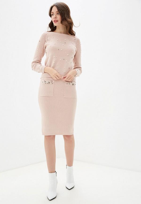женский костюм rossa, розовый