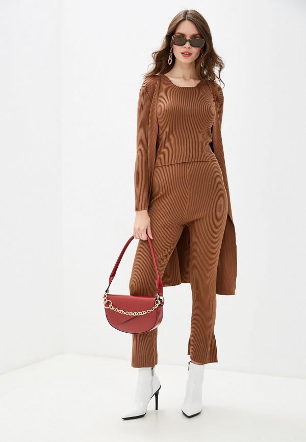 женский костюм rossa, коричневый