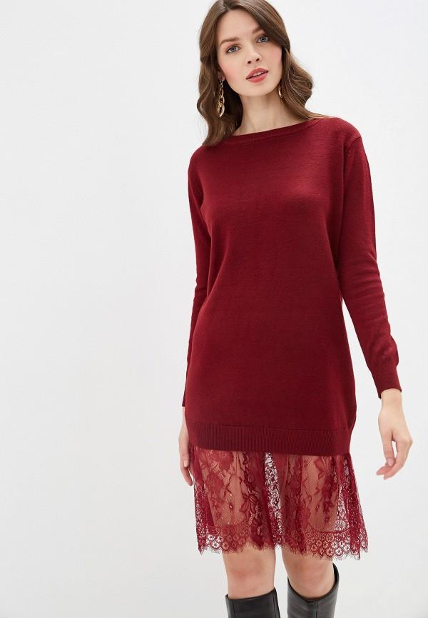 женское платье rossa, бордовое