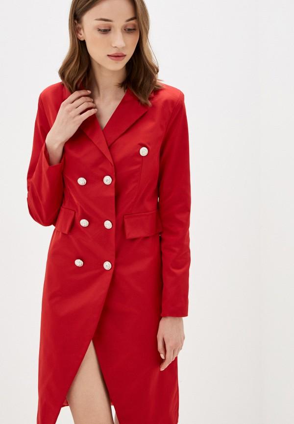 женское платье rossa, красное