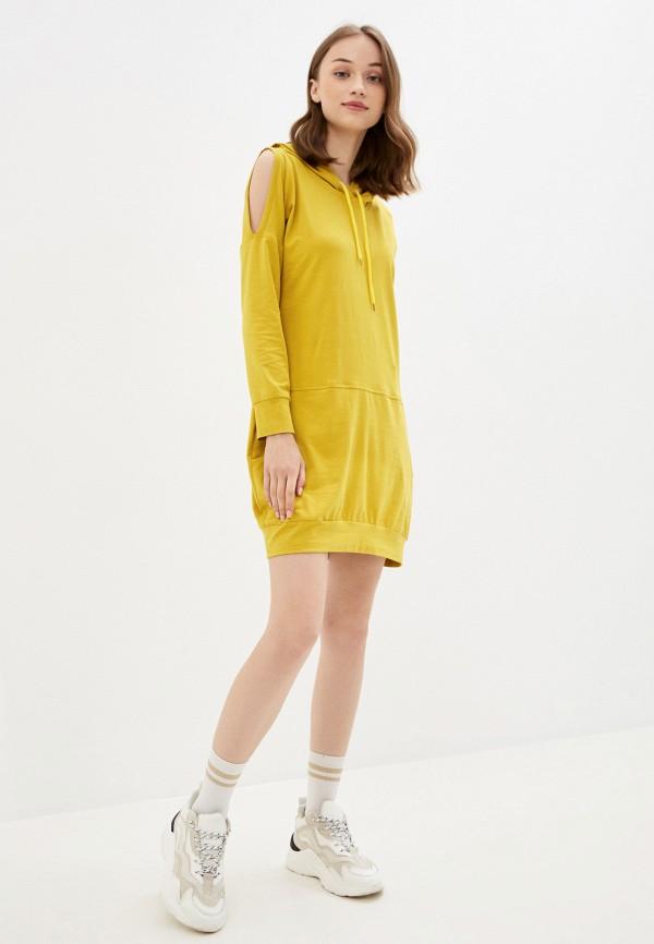 женское платье rossa, желтое