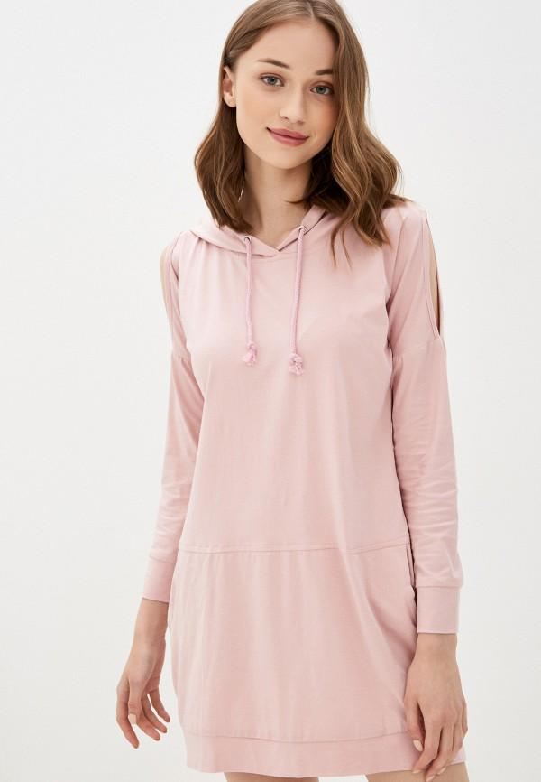 женское платье rossa, розовое