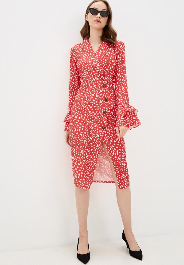 женское повседневные платье rossa, красное