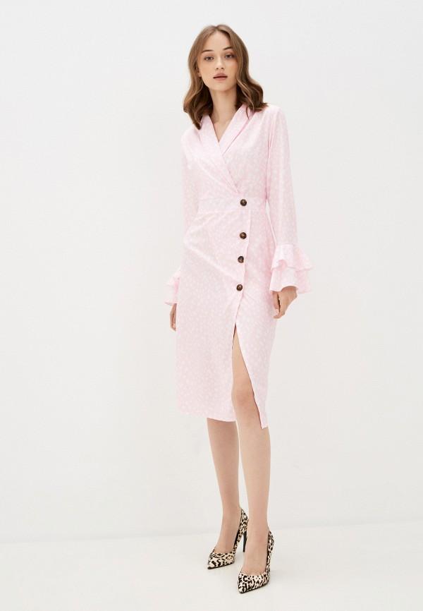 женское повседневные платье rossa, розовое
