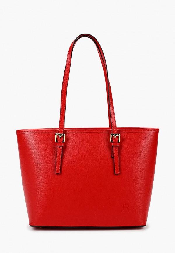 женская сумка с ручками roberto buono, красная