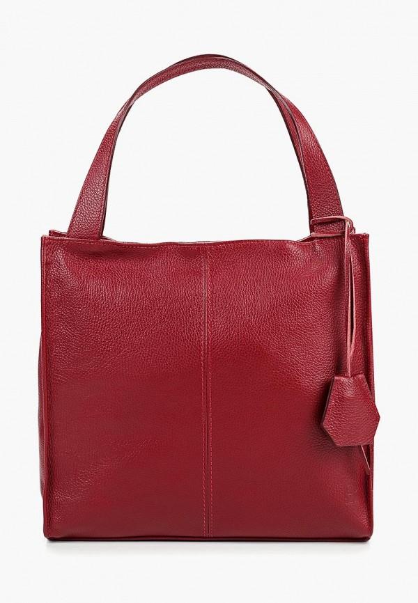 женская сумка roberto buono, бордовая