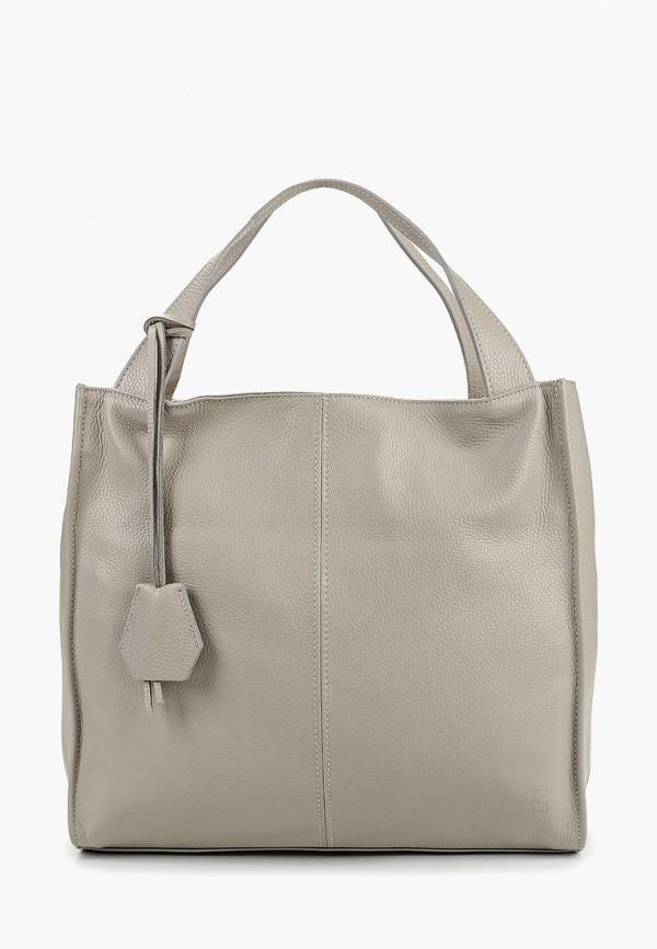 женская сумка-шоперы roberto buono, серая