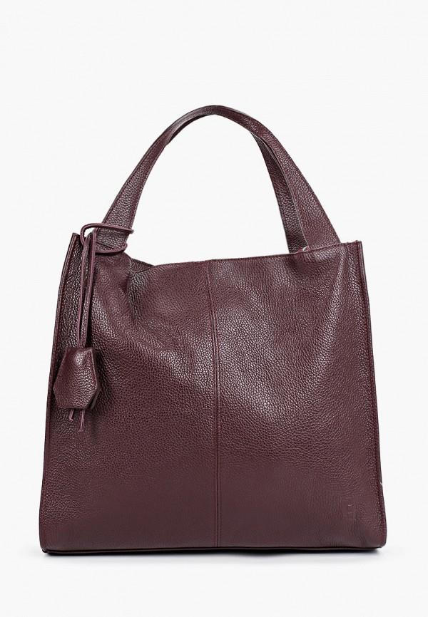 женская сумка-шоперы roberto buono, бордовая