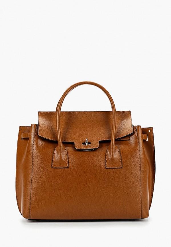 женская сумка roberto buono, коричневая