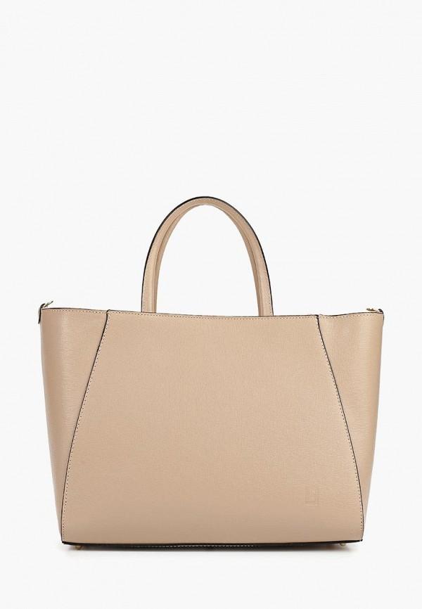 женская сумка-шоперы roberto buono, бежевая