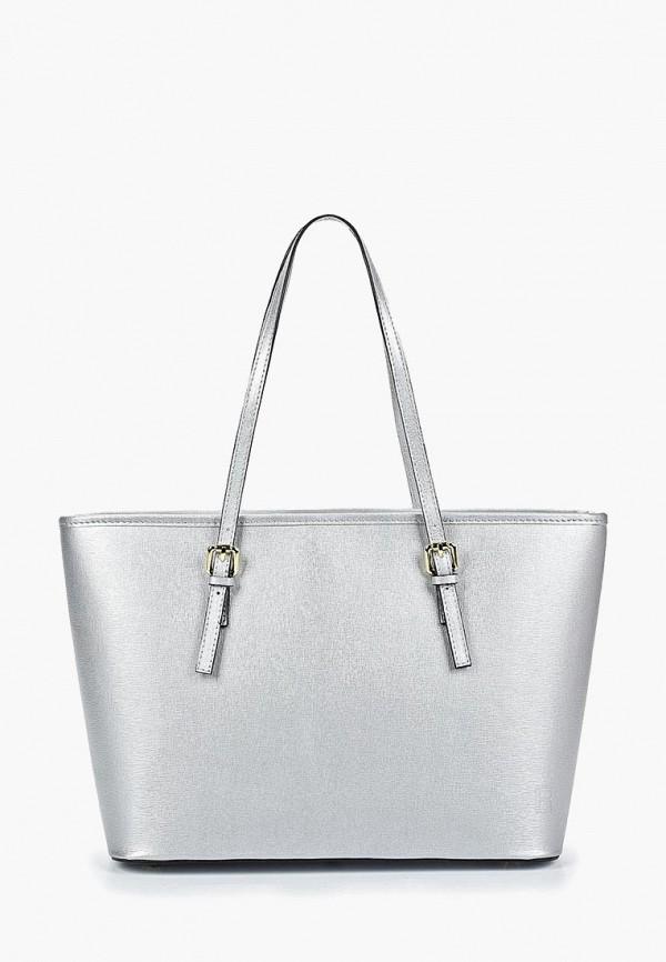 женская сумка-шоперы roberto buono, серебряная