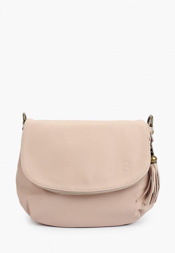 женская сумка через плечо roberto buono, бежевая