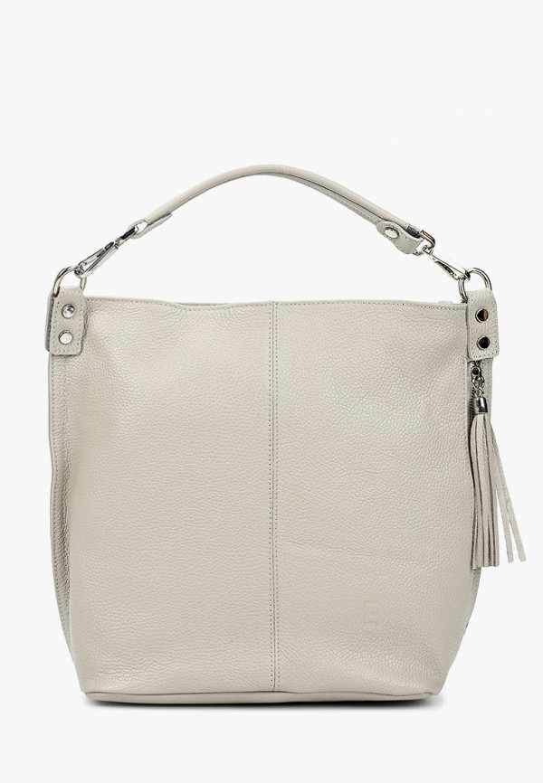 женская сумка с ручками roberto buono, серая