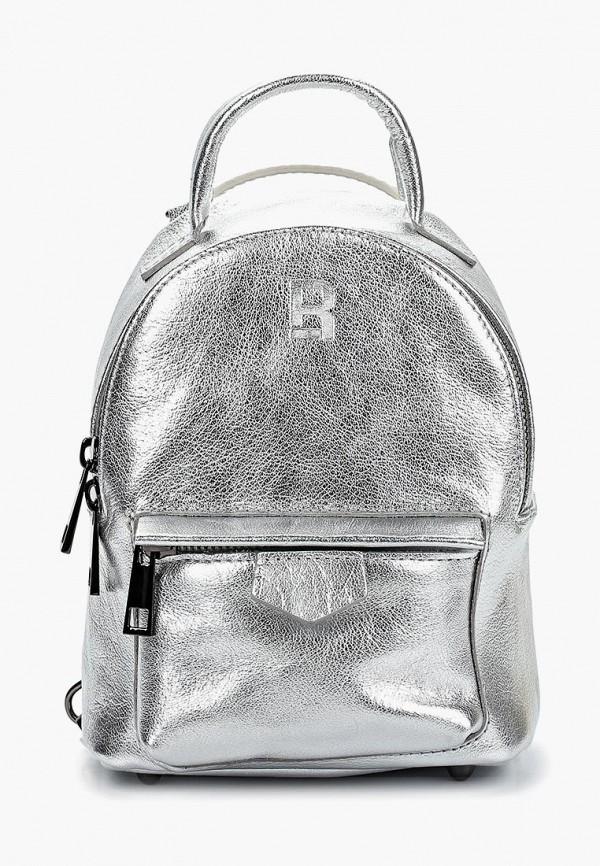 женский рюкзак roberto buono, серебряный