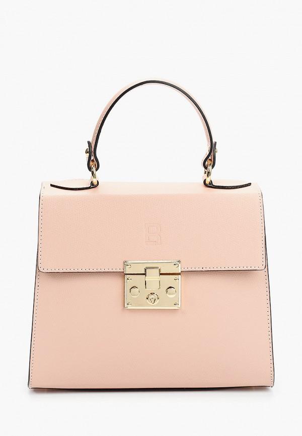 женская сумка через плечо roberto buono, розовая