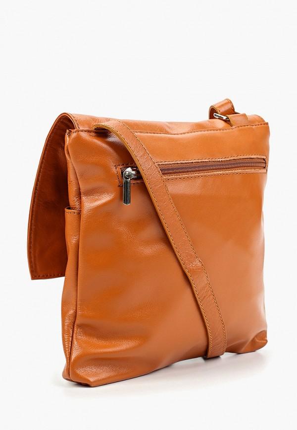 Фото 2 - Женскую сумку Roberto Buono коричневого цвета