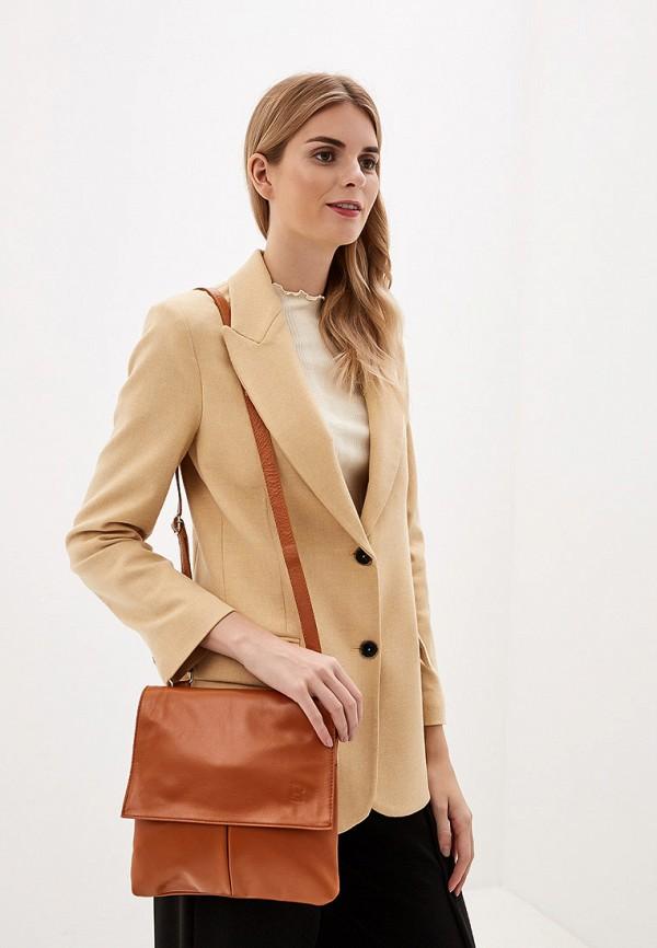 Фото 4 - Женскую сумку Roberto Buono коричневого цвета