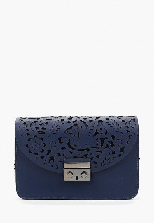 Фото - Женскую сумку Roberto Buono синего цвета