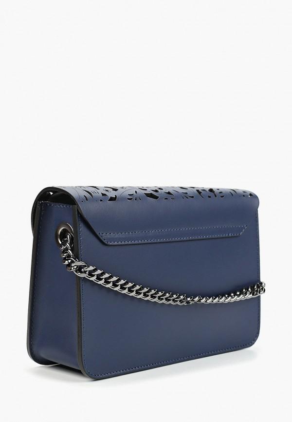 Фото 2 - Женскую сумку Roberto Buono синего цвета