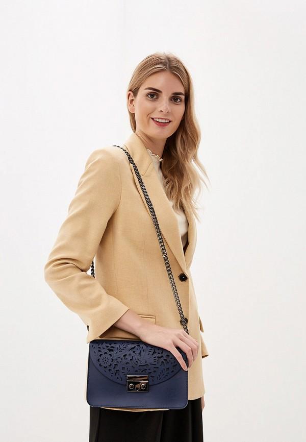 Фото 4 - Женскую сумку Roberto Buono синего цвета