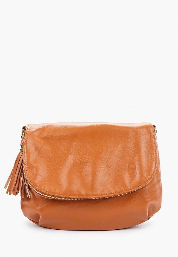 женская сумка через плечо roberto buono, оранжевая
