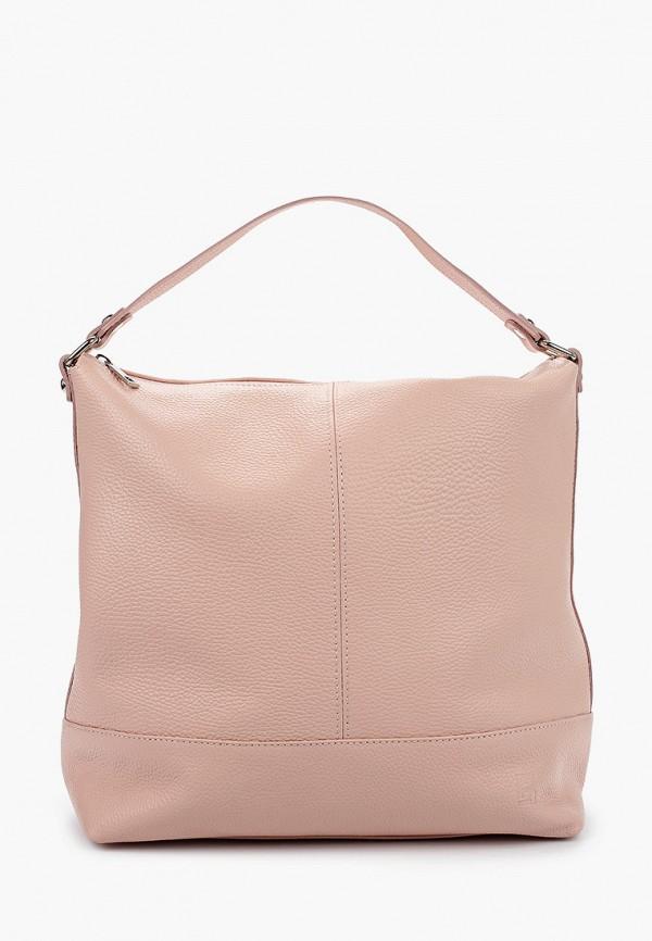 женская сумка с ручками roberto buono, розовая